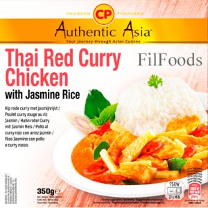 Authentic Asia Thai Red Curry Chicken with Jasmine