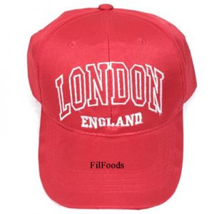 Unisex Red London England Cap