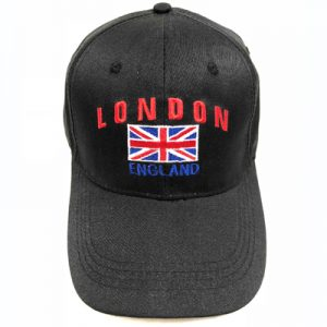 Unisex Black London England Union Flag Cap