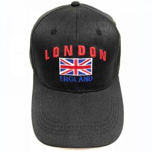 Unisex Black London England Union Flag Cap