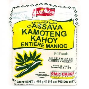 Buenas Whole Peeled Cassava (Kamoteng Kahoy) 454g