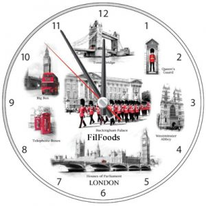 9″ Wall Clock – London Attractions