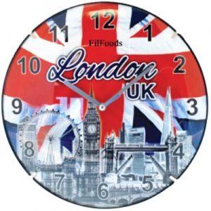 9″ Wall Clock – London Skyline