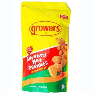 Growers Savoury Hot Peanuts 80g