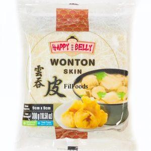 Happy Belly Wonton Skin 9x9cm