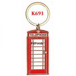 Metal Keyring – Telephone Box
