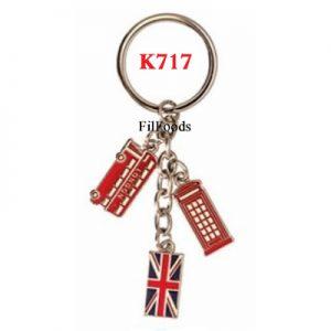 Keyring Chain Charm – London Bus / Tel / UJ