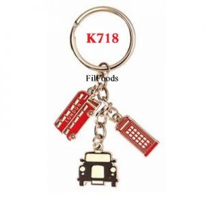 Keyring Chain Charm – London Bus / Tel / Tax