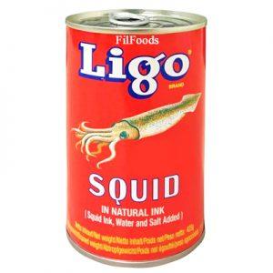 Ligo Squid in Natural Ink 425g