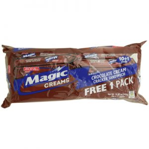 JnJ Magic Creams Chocolate Cream Cracker Sandwich