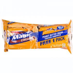 JnJ Magic Creams Peanut Butter Cream Cracker Sandw
