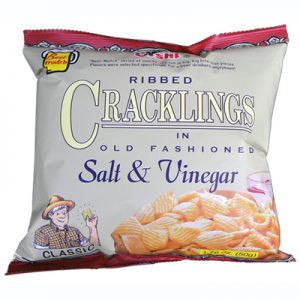 Oishi Ribbed Cracklings Salt & Vinegar