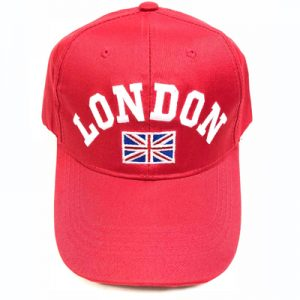 Unisex Red London Union Flag Cap