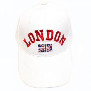 Unisex White London Union Flag Cap