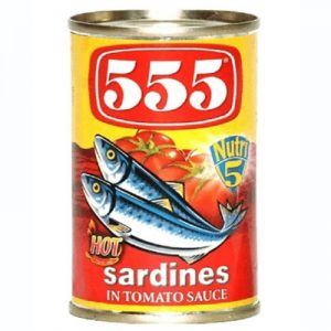 555 Sardines in Hot Tomato Sauce (Red)