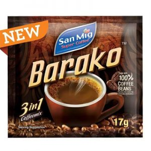 San Mig Barako 3in1 Coffee Mix 10 x 17g