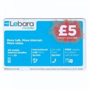 Lebara Top-up Card £5