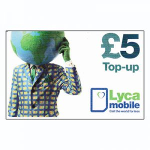Lyca Top-up Card £5