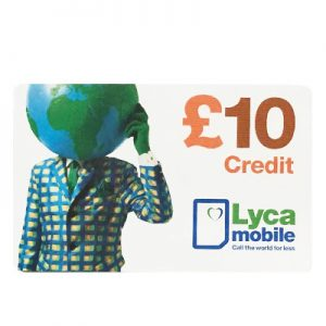 Lyca Top-up Card £10