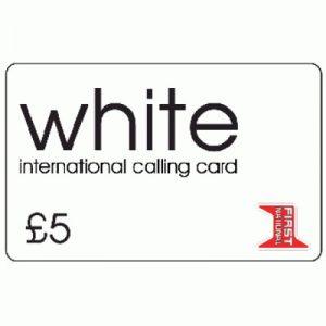 White Calling Card £5