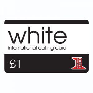 White Calling Card £1