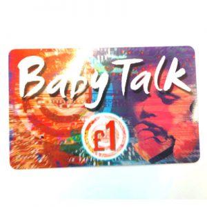 Baby Talk Calling Card £1