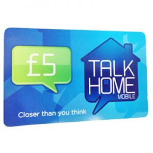 Talk Home Mobile Top-up Card £5
