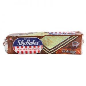 Skyflakes Crackers Sandwich – Tsokolate 10x3