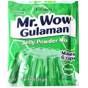 Galinco Mr. Wow Gulaman Jelly Powder Mix Green 24g
