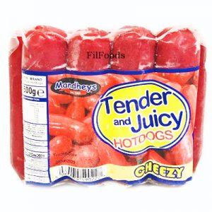 Mandheys Tender & Juicy Cheezy Pork Hotdogs &