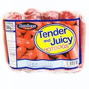 Mandheys Tender & Juicy Pork Hotdogs –