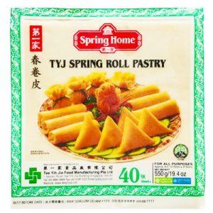 TYJ Spring Roll Pastry 8″x8″ (40 Sheet