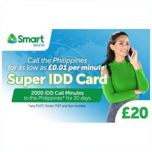 Smart Super IDD Card £20 (200...