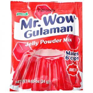 Galinco Mr. Wow Gulaman Jelly Powder Mix Red 24g