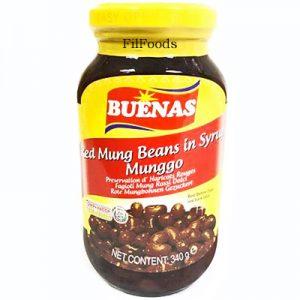 Buenas Sweet Red Mung Beans (Munggo) In Syrup 340g