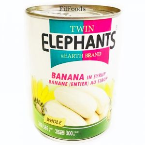Twin Elephant Banana in Syrup 565g