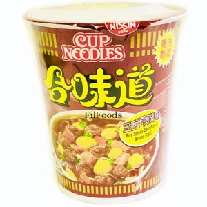 Nissin HK Cup Noodles Five Spices Beef Flavour 72g