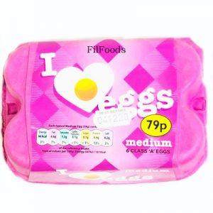 I Love Eggs – Medium – 6Pcs