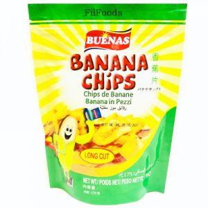 Buenas Banana Chips (Long Cut) 175g