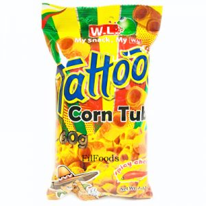 WL Tattoos Corn Tube Spicy Cheese 60g