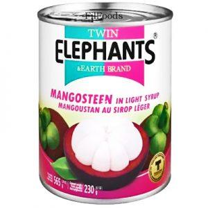 Twin Elephants Mangosteen in Light Syrup 565g