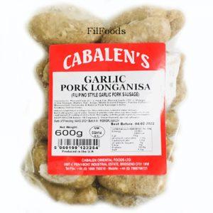 Cabalen's Pork Longanisa – Garlic 600g