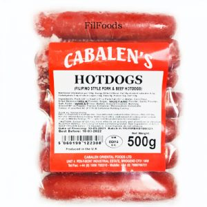 Cabalen's Pork & Beef Hotdog 500g