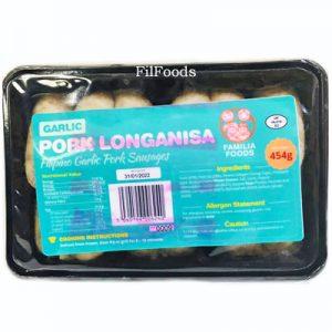 Familia Foods GARLIC Pork Longganisa 454g