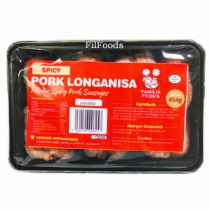 Familia Foods SPICY Pork Longganisa 454g