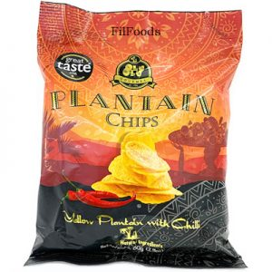 Olu Olu Yellow Plantain Chips with Chili 60g