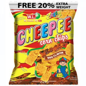 WL Cheepee Corn Chips – BBQ Flavor 120g