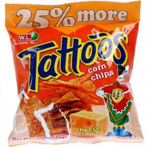 WL Tattoos Corn Chips Cheese Flavor 30g