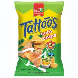 WL Tattoos Corn Chips Sweet Corn Flavor 30g