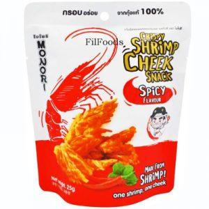 Monori Crispy Shrimp Cheek Snack – Spicy 25g